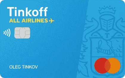 кредитная карта Tinkoff all Airlines png